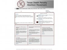 Website van de Texas Death Penalty Abolition Movement, gerealiseerd door WeSign